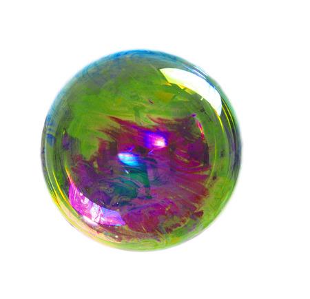 Una burbuja de jabón con muchos colores Foto de archivo - 46017755