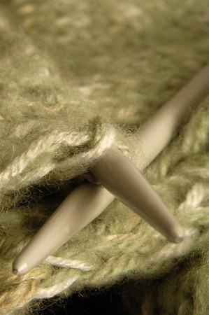 needlecraft product: knitting hobby