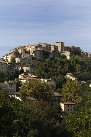 tarn: wiew of medieval village of Cordes Sur Ciel, Tarn, France