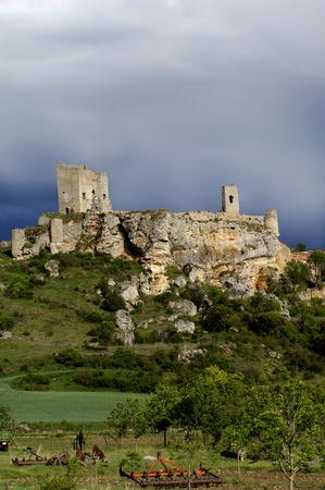 prov�ncia: Castle remains Calatañazor, Soria Province, Spain