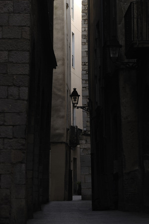 historic district: Street in the historic district of Girona, Catalonia,Spain