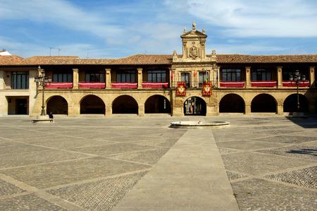 domingo: Main square of Santo Domingo de la Calzada, La Rioja,Spain