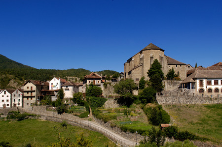 aragon: Anso, Echo and Anso Valley, Huesca, Aragon, Spain Stock Photo