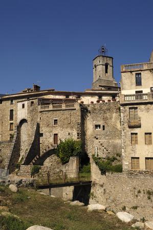 alt: view of Maçanet de Cabrenys, Alt Emporda, Girona, Catalonia, Spain