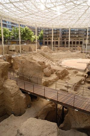 zaragoza: Roman theatre in Zaragoza, Aragon, Spain