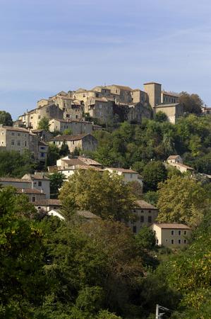 sur: medieval village of Cordes Sur Ciel, Tarn, France