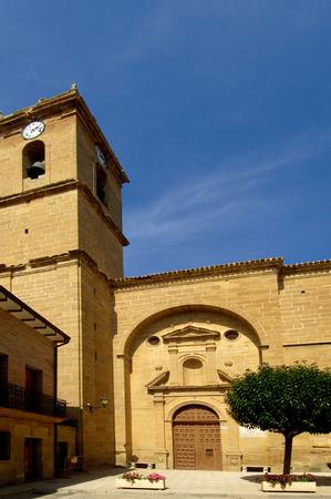 rioja: San Martin Chuch, Casalareina, La Rioja, Spain Stock Photo