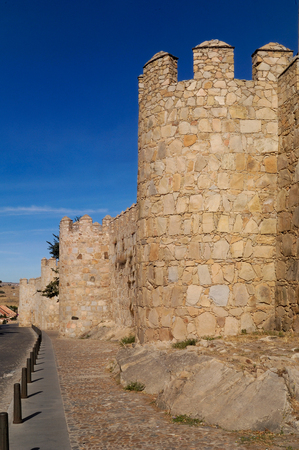castilla: Walls in Avila, Castilla y Leon, Spain