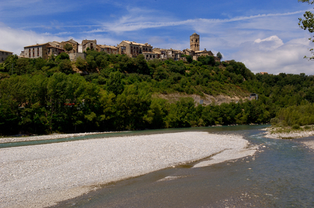 perdido: village of Ainsa, Huesca, Spain Stock Photo