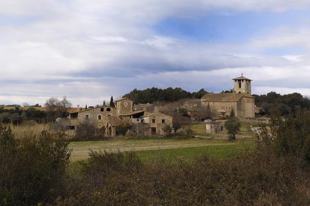 pla: Village of Fontcoberta, Pla de lEstany, Girona, Spain