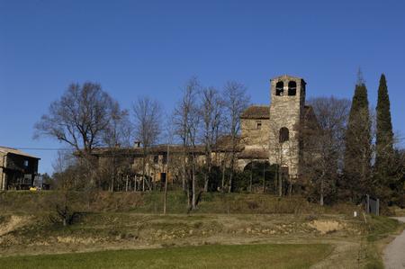 pla: Sant Marti de Campmajor, Pla Estany, Girona, Catalonia,Spain
