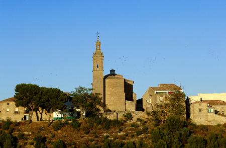 navarra: Overvieuw Sansol, Navarra, Spain Stock Photo