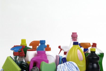 cleaning products: cleaning products Stock Photo