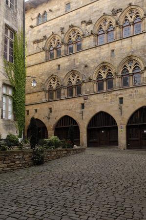 tarn: Gothic facade of Cordes Sur Ciel (olt town), Tarn, Midi Pyrenees, France