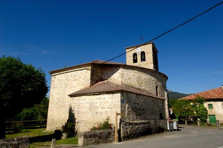 alava: Church of Espejo, Alava, Basque Country,Spain