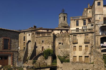 alt: Village of Maçanet de Cabrenys, Alt Emporda, Girona, Spain Stock Photo