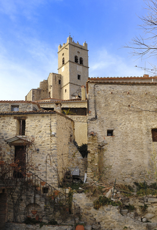 roussillon: village of Eus, Languedoc Roussillon, Pyrenees Orientales, France