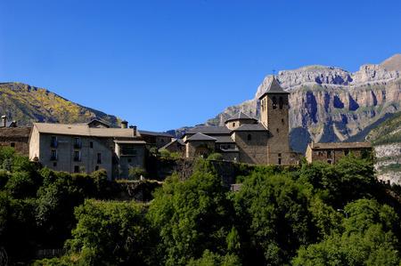 perdido: Torla, Ordesa and Monte Perdido, National Park, Huesca, Aragon, Spain Stock Photo