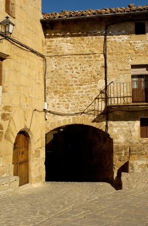 navarra: Inside the village, Ujue, Navarra, Spain