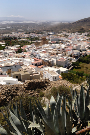 an overview: Overview Nijar, Almeria province, Andalucia, Spain Stock Photo