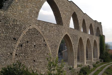 valencia: arch of Morella, Comunitat Valencia, Spain