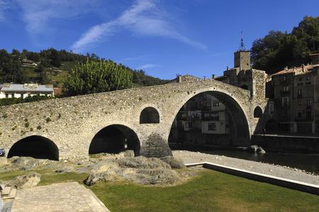 12th century: Pont Nou, Camprodon, Girona province, Catalonia, Spain