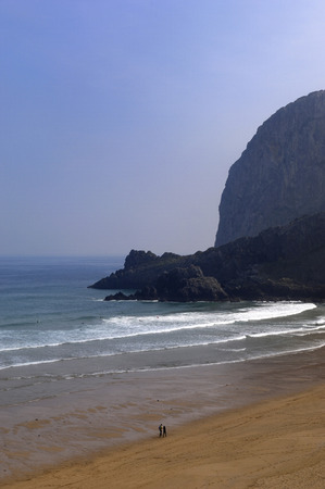 biosphere: Laga Beach and Cape Ogoño, (Urdaibai Biosphere), Vizcaya, Basque Country, Spain