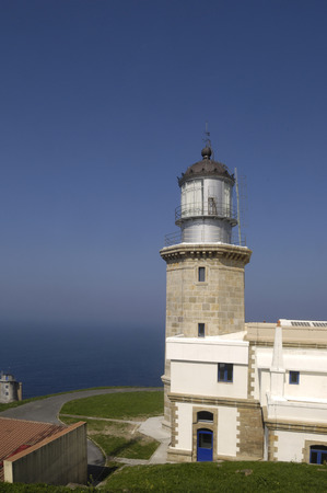 the basque country: lighthouse at Matxitxako Cape, Bermeo, Vizcaya,Basque Country,Spain