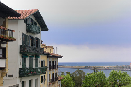 the basque country: view of Hondarribia , Basque Country , Spain