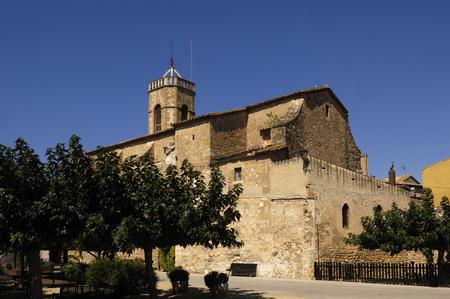 prov�ncia: Santa Maria church, Cistella, Alt Emporda, Girona province, Spain Banco de Imagens