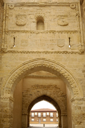 castile leon: medieval door of Villalpando, Zamora Province, Castile and Leon, Spain