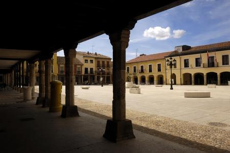 zamora: Main Square of Villalpando, Castilla y Leon, Zamora, Spain