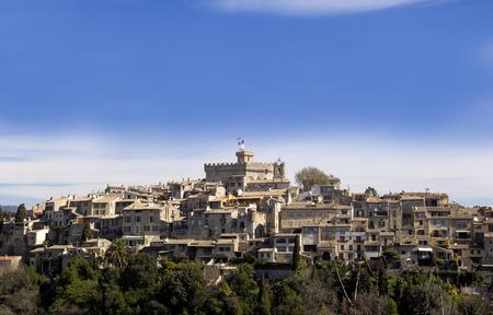 zicht op Cagnes Sur Mer, Frankrijk Stockfoto