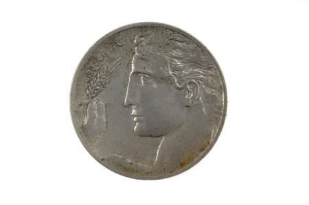 cs: French currency of the twentieth century 2 cs , 1908