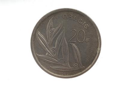 baudouin: coin of King Baudouin I of Belgium  20franc