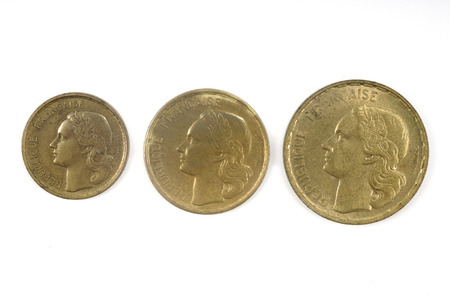 numismatic: French currency of the twentieth century, 10, 30 and 50cents