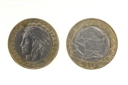 lira: 1000 Lira Italian Coin