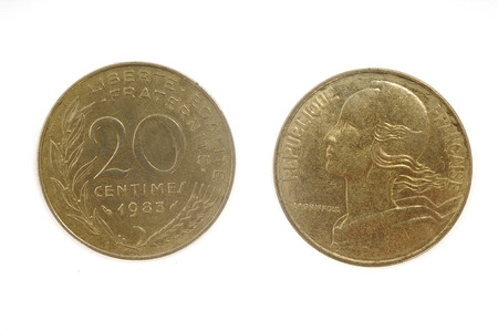 cents: twenty cents, 1983 France Coin