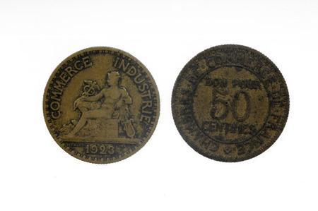 franc: half franc, 1923, coin france