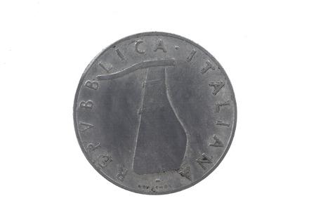 lira: 5 lira 1954 Italian coin