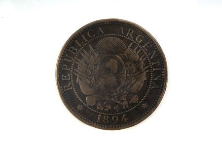numismatist: two centavos 1894 coin of Argentina