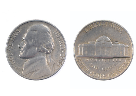 five cents: Five cents USA 1962