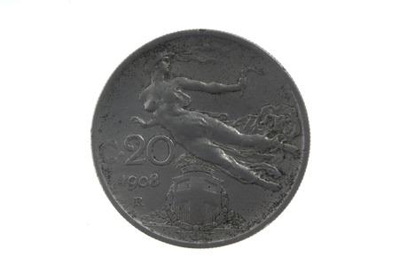 twentieth: French currency of the twentieth century 2 cs , 1908