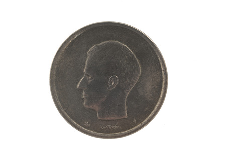 baudouin: coin of King Baudouin I of Belgium 20Fr.