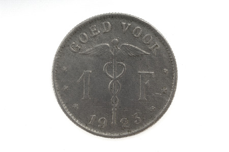 franc: 1 Belgian Franc, coin, 1923