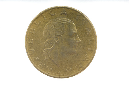 lira: 200 lira, 1990 italian currency