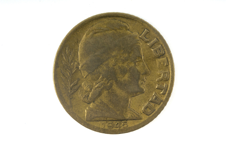 numismatist: old coin of Argentina 1945 Stock Photo