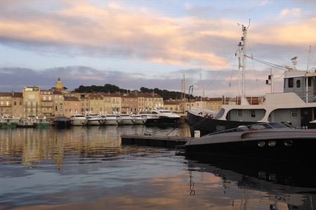 french riviera: Sunset in Saint Tropez, French Riviera,