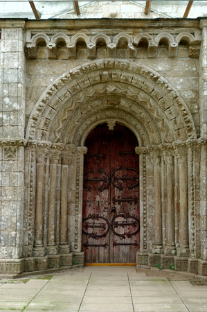 orense: Church of Villar de Donas, Orense, Galicia, Spain Stock Photo