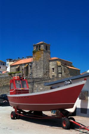 galicia: Church of Laxe ,A Coruña,Galicia, Spain, Stock Photo